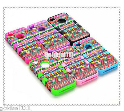 Hybrid 3-In-1 Rubber Matte Hard Case Cover For iPhone 4G 4S+ PEN+ SCREEN GUARD*