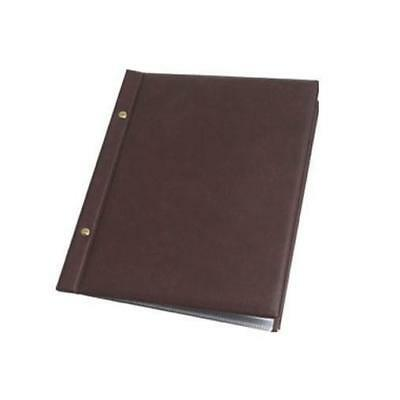 Classic Menu Cover with Brass Interscrews, Burgundy A4 10 Pockets NEW