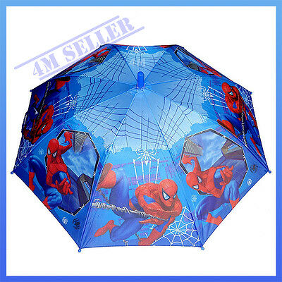 Kids Boys Umbrella Rainproof Raincoat Spider-man Marvel Hero Sunshade Gift