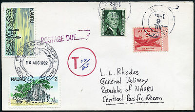 NAURU POSTAGE DUE from USA 1982