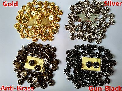 11m brass lapel pin backs butterfly clutch clasps for military police club badge