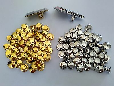 gold silver brass lock pin keeper badge backs saver clasp clutch jewelry finding