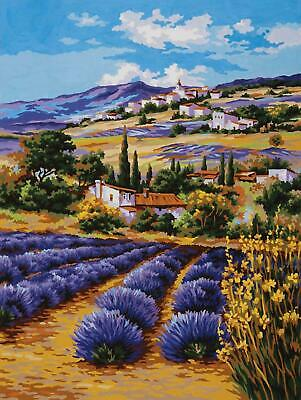Grafitec Printed Tapestry/Needlepoint Canvas – Lavender Fields