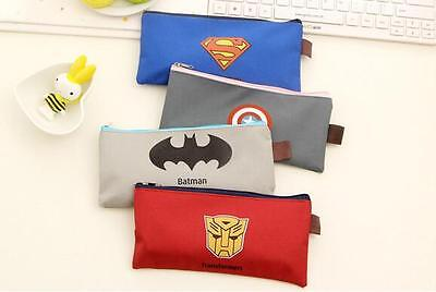 New 20 Pcs Super Heros Pencil Case Stationery bags Gift Stationery School