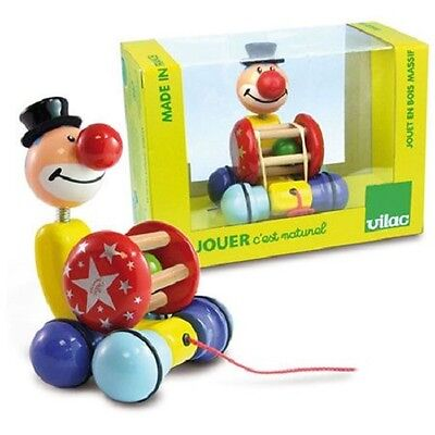 NEW Cute Interactive Pull-Along Toy Grantoon The Clown w Rumbling Ball In A Cage