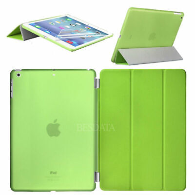 F. Apple iPad 5 iPad Air Magnetic Smart Cover Case Schutz Hülle Tasche Etui Grün