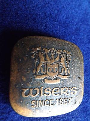 Wisers Famous Canadian Whiskey Since 1857 Lariat Advertise Button Pin Collector