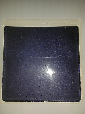 Parking Permit Holder/pockets In Purple Metal Look Pvc + Extra Pock For Card