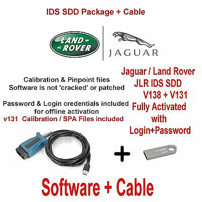 Jaguar Land Rover Range Rover Diagnostics kit IDS SDD JLR 131 +138 + Cable