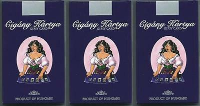 3x HUNGARIAN GYPSY FORTUNE TELLING CARDS GIPSY CARDS TAROT HUNGARY FREE SHIPPING