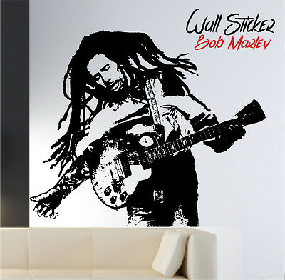 "WALL STICKER adesivi murali  ""BOB MARLEY"" 100% MADE IN ITALY"