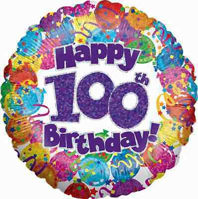 30 X 100Th Birthday Party Edible Wafer/Fondant Paper Birthday Cup Cake Toppers