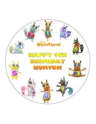 """7.5/"""" GET SQUIGGLING PERSONALISED ROUND EDIBLE WAFER//FONDANT PAPER CUPCAKE TOPPER"""