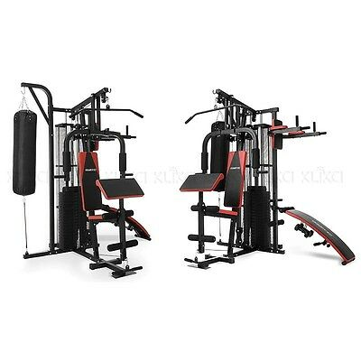 Multi-Station Home Gym - 100kg with Punching Bag