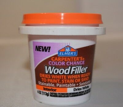 Elmer's Carpenter's Color Change Wood Filler, 4 oz., White (E915)