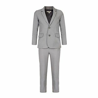 Boys Suit John Rocha Designer Formal Suit Silver Grey 7-15 Years Brand New