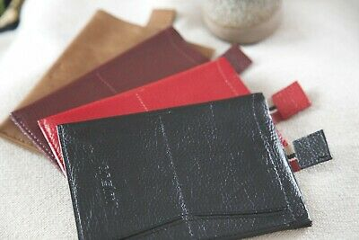 Real Genuine Leather EU & UK Passport Protector With Boarding Pass Holder