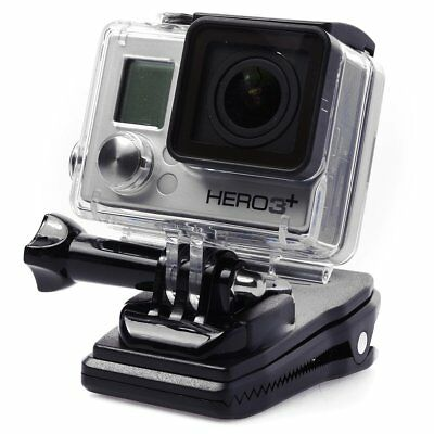 360 Rotating Backpack Hat Quick Release Clip Clamp Mount for GoPro Hero 2 3+ 4 5