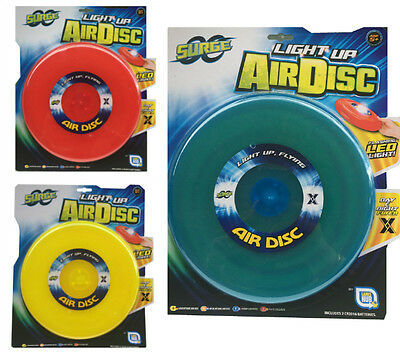 Light Up Air Disc Glow In The Dark LightUp Flying Air Disc Frisbee Assorted 25cm