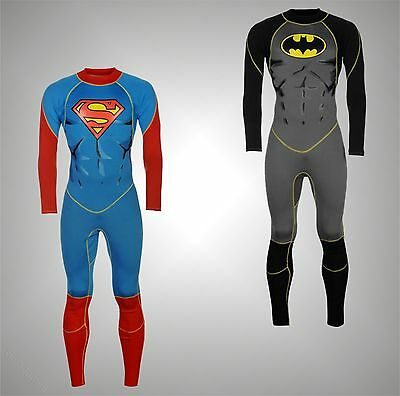 Mens Branded Character Stylish Full Length Legs Wetsuit Water Sports Size S-XL