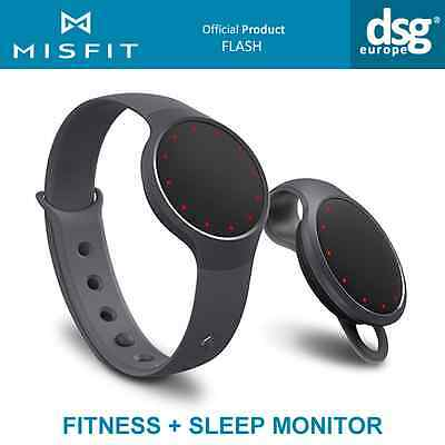 Misfit Flash Fitness Sleep Monitor Activity Tracking Smart Band Black