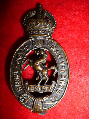 East Kent Yeomanry Bronzed KC Cap Badge, KK 1438