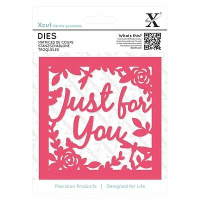 Xcut (Docrafts) Just For You Topper Die Set (1pc) Paper Card Craft