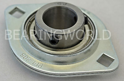 "NEW SBPFL202-10 High Quality 5/8"" Set Screw Pressed Steel 2-Bolt Flange Bearing"