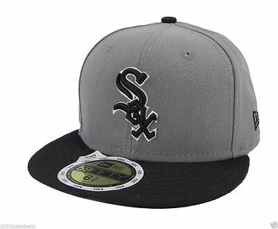 New Era 59Fifty Kids Cap Chicago White Sox MLB Basic Storm Gray Black Fitted Hat