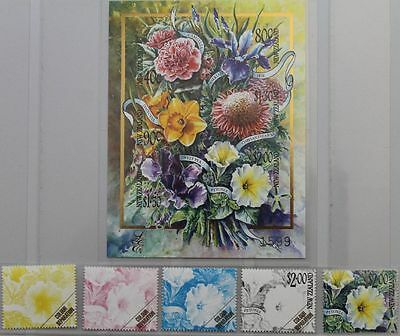 NEUSEELAND 2001 1896-01 Block 120 1702-07 LIMITED EDITION Flowers Blumen Flora