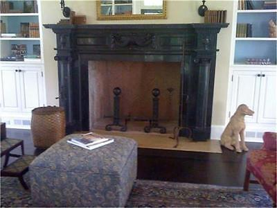 Beautiful Hand Carved Marble Estate Fireplace Mantel - Pr3