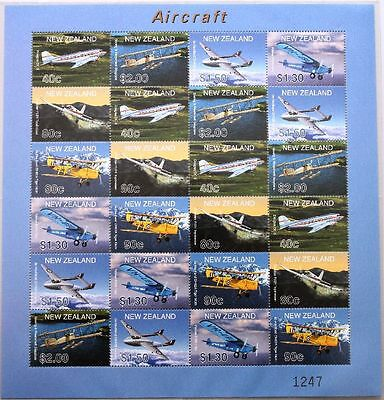 NEUSEELAND 2001 1908-13 + ZD 1714-19 LIMITED EDITION Flugzeuge Airplanes Planes