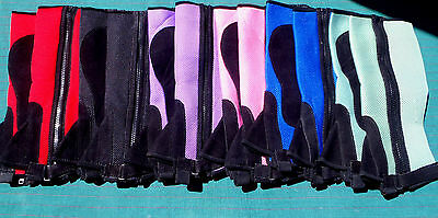 Childrens half chaps Purple,Black.Blue and Pink