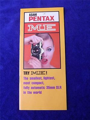 Ashi Pentax Me Camera Film Catalog Brochure Manual Electronic Marvel 35Mm