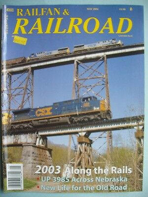 May 2004 Railfan & Railroad Trains Magazine Steaming To The Superbowl