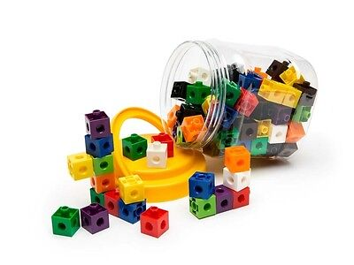 100 Linking/Stacking Cubes - 2cm Size. Maths Classroom Counting Sorting