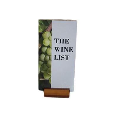 Menu Display Stand, DL Timber with Acrylic Top, Restaurant / Wine List Menus NEW