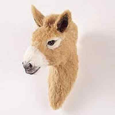 CUTE DONKEY FUR MAGNET! Start collecting Horses, Dogs, Birds & Animals!