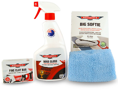 Bowden's Own Fine Clay Bar Detail Kit Cleaner Mothers Meguiars Turtle Wax HSV GT