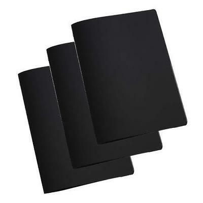 10x Deluxe Tuscan Leather Menu, Black, A4, 2 Pockets, Restaurant Menus NEW