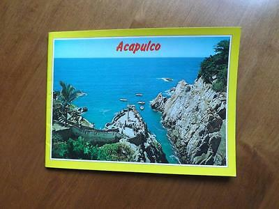 Booklet Souvenir Travel Acapulco Mexico Color Pictures Information Map