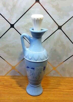 Unusual Vintage Mid-century Greek Socrates Vase/Bottle with Stopper