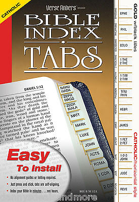 Catholic Bible Book Labels Index Tabs Dividers Gold -LONG LASTING w/ EZ Install