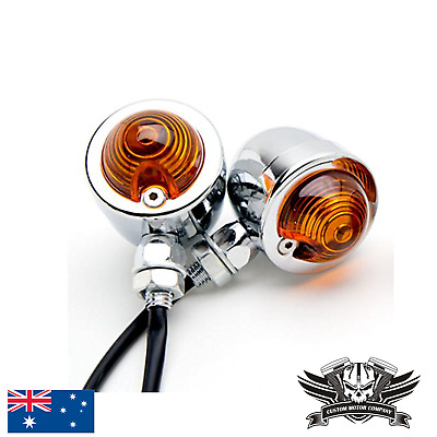 4x Bullet Motorcycle Chrome Turn Signal Light Indicator Harley Chopper bobber XL