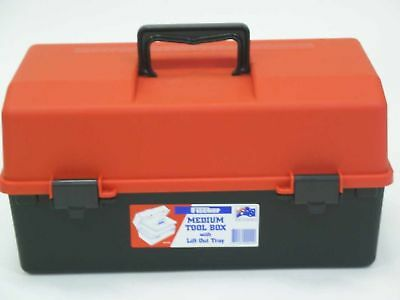 Fischer Plastic Products Tool/Sewing/Hobby Box Medium With Lift Out Tray 1H-125