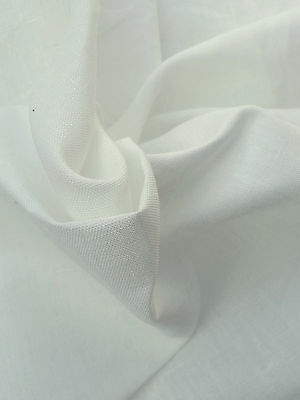 100% Natural Linen Fabric By the Yard PFD Undyed