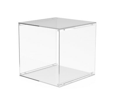 """Separable Clear Acrylic Transparent 12"""" Cube Display 4 T-Shirts, Clothing 13809"""