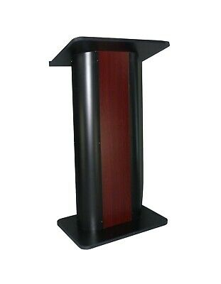 Wide Curved Podium Pedestal Church Pulpit Church Conference Lectern Steel Wood