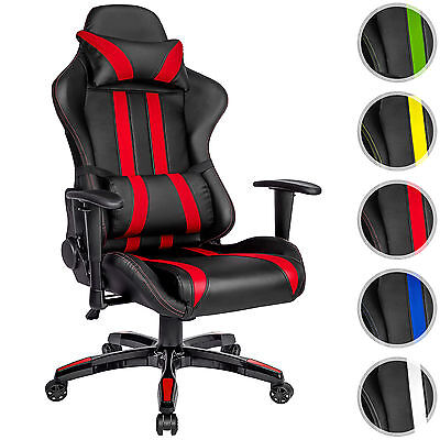 chaise fauteuil si ge de bureau racing sport tissu baquet. Black Bedroom Furniture Sets. Home Design Ideas