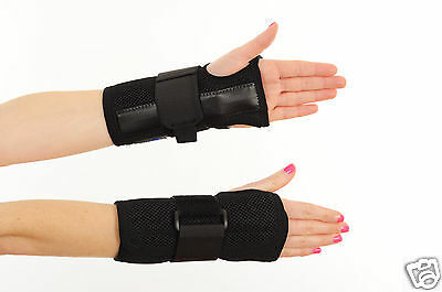 Dual Hand Wrist Support Brace Splint for Carpal tunnel, Arthritis Sprain Strain